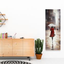 Canvas 16 x 48 - Quiet walk in the rain