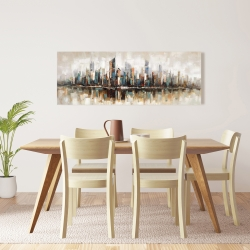 Canvas 16 x 48 - Abstract buildings with textures