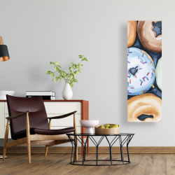 Canvas 16 x 48 - Watercolor doughtnuts with icing
