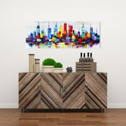 Canvas 16 x 48 - Abstract and colorful city
