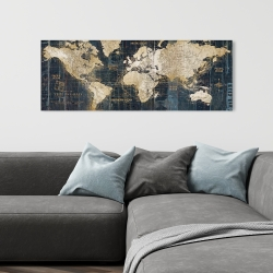 Canvas 16 x 48 - Vintage world map
