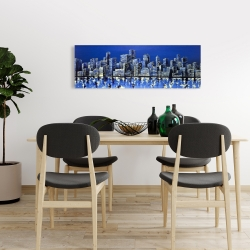 Canvas 16 x 48 - City in blue