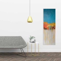 Canvas 16 x 48 - Colorful abstract small flowers