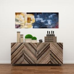 Canvas 16 x 48 - Abstract art with numbers
