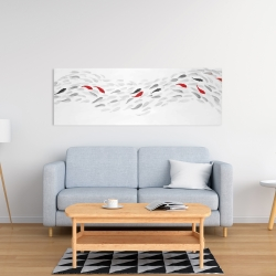 Canvas 16 x 48 - Swimming fish wave