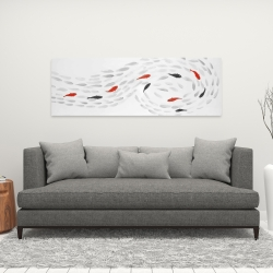 Canvas 16 x 48 - Swimming fish swirl