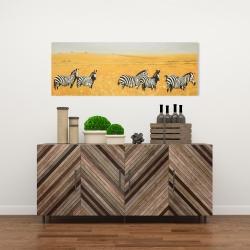 Canvas 16 x 48 - Herd of zebra