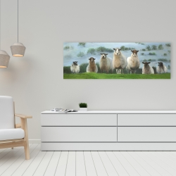 Canvas 16 x 48 - Flock of sheep