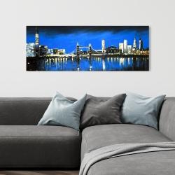 Canvas 16 x 48 - Blue skyline of london