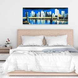 Canvas 16 x 48 - Skyline of lower manhattan