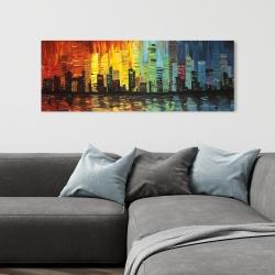 Canvas 16 x 48 - City with color tones