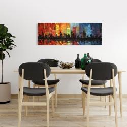 Canvas 16 x 48 - Colorful cityscape