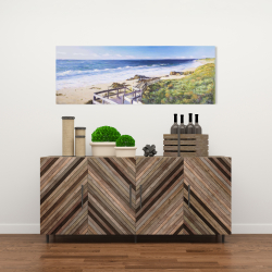Canvas 16 x 48 - Walk to the beach