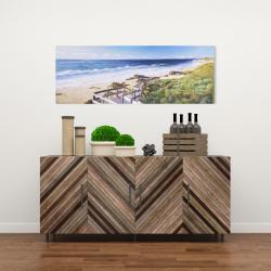 Canvas 16 x 48 - Walk to the beach