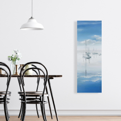 Canvas 16 x 48 - Sailboats on the quiet lake