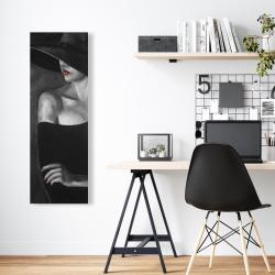 Toile 16 x 48 - Femme mystérieuse avec un chapeau