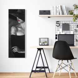Canvas 16 x 48 - Mysterious woman with a hat