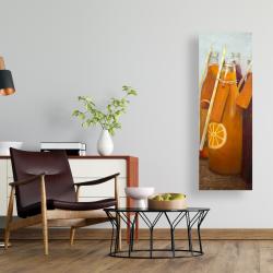 Canvas 16 x 48 - Orange summer drinks