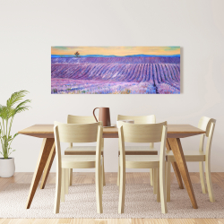 Canvas 16 x 48 - Landscape of a field of lavender