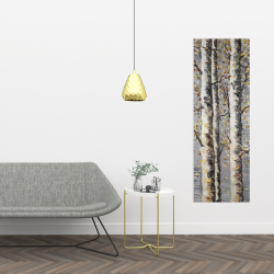 Canvas 16 x 48 - Blossoming birches