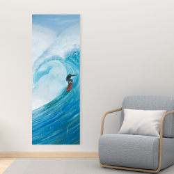 Canvas 16 x 48 - Surfer on a big wave