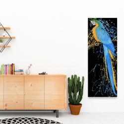 Canvas 16 x 48 - Blue macaw parrot