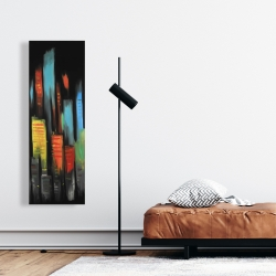 Canvas 16 x 48 - Abstract tall buildings