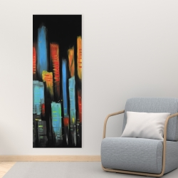 Canvas 16 x 48 - Abstract and colorful tall buildings
