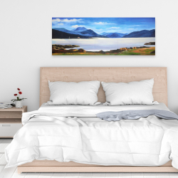 Canvas 16 x 48 - Scottish highlands by a beautiful day