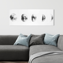 Canvas 16 x 48 - Black and white eclipse