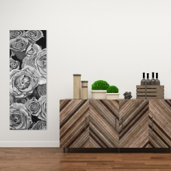 Canvas 16 x 48 - Grayscale roses
