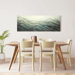 Toile 16 x 48 - Montagnes en tons de gris