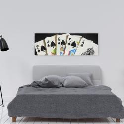 Canvas 16 x 48 - Card game spades royal flush closeup