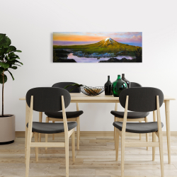 Canvas 16 x 48 - Mount fuji landscape