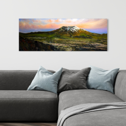 Canvas 16 x 48 - Valley and mountains landscape