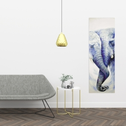 Canvas 16 x 48 - Elephant couple loving each other