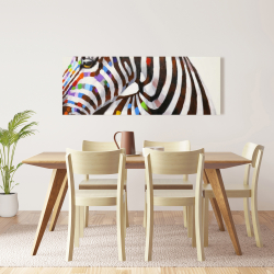 Canvas 16 x 48 - Colorful zebra