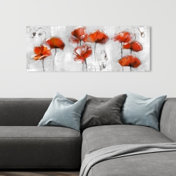 Canvas 16 x 48 - Red flowers