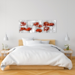 Canvas 16 x 48 - Abstract poppies