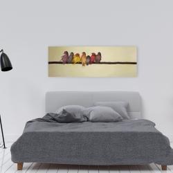 Canvas 16 x 48 - Bird family