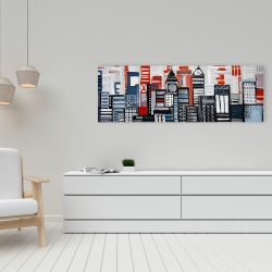 Canvas 16 x 48 - Geometric urban landscape