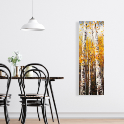 Canvas 16 x 48 - Birches by sunny day