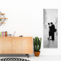 Canvas 16 x 48 - Couple in the street
