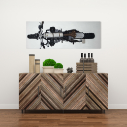 Canvas 16 x 48 - Overhead view of a motorcycle