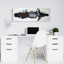 Canvas 16 x 48 - Overhead view of a motorbike
