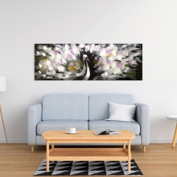 Canvas 16 x 48 - Beautiful spotted peacock