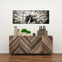 Canvas 16 x 48 - Spotted abstract peacock