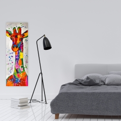 Canvas 16 x 48 - Abstract colorful giraffe with paint splash
