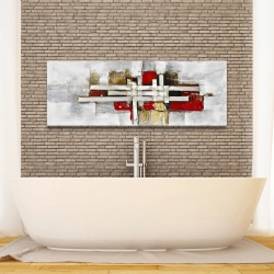 Canvas 16 x 48 - Abstract intertwining shapes