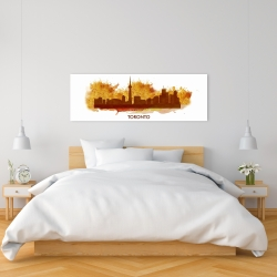Canvas 16 x 48 - Paint splash silhouette of toronto